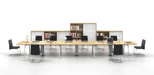 Thiết kế bàn làm việc theo nhóm Inspira & Modul