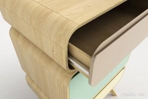 Tủ gỗ xếp hình độc đáo đầy màu sắc