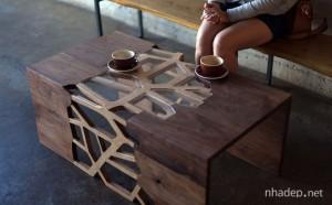 Bàn cafe nhập khẩu được làm thủ công hoàn toàn từ Mỹ