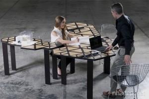 Bộ bàn làm việc ghép tiện dụng và đa năng