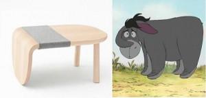 Bộ sưu tập bàn ghế lấy ý tưởng từ gấu Pooh và những người bạn