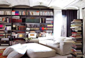 Giá sách tại nhà vô cùng ấn tượng dành cho phòng đọc sách