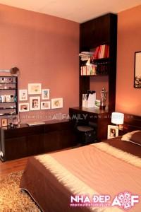 Phòng ngủ được thiết kế sang trọng trong diện tích không quá rộng
