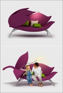 Thiết kế ghế hoa đầy ngọt ngào, nữ tính