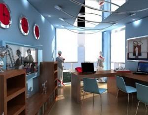 Phối màu nội thất văn phòng hoàn thiện trong thiết kế văn phòng