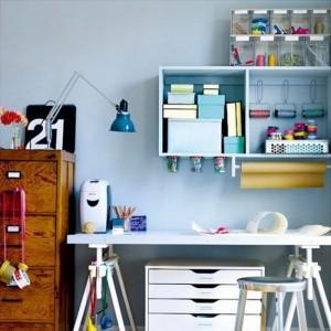Xu hướng phòng làm việc đẹp đầy màu sắc
