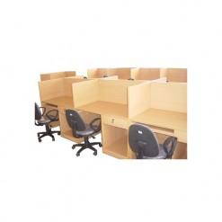 Vách ngăn văn phòng gỗ